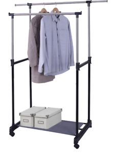 Clothing rack -- two adjustable clothes rails