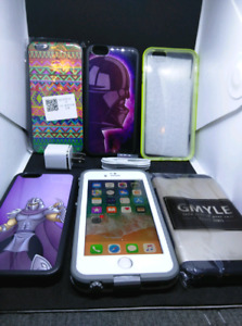 Apple iPhone 6S 64GB UNLOCKED with case, charger and plug