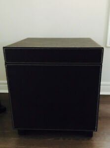 2 Leather storage boxes