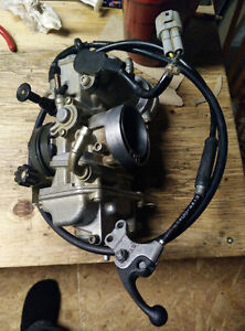 FCR-MX 39mm Carb, Intake Boot, and Hot-start lever.