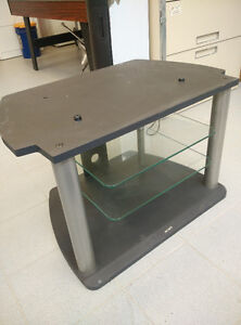 SONY TV STAND HEAVY DUTY STEEL AND GLASS