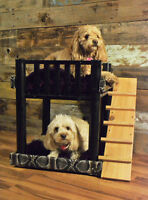 Reclaimed coffee table/ doggie bunk beds (Alligator skin)