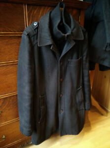 Manteau Homme Long Laine Noir / Men Long Black Wool Coat