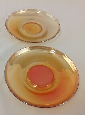 Marigold Saucer (Marigold Carnival Glass Coffee Cup Saucer (set of 2) )