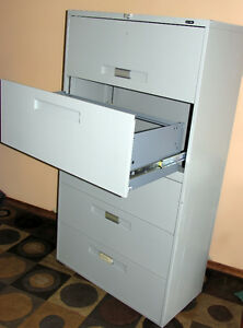 $1100 RETAIL!! 5 Drawer Global Lateral filing Cabinet SEE VIDEO