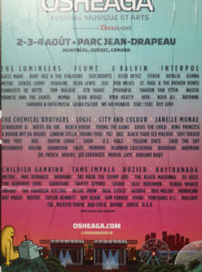 2 three day passes to Osheaga
