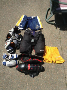 Hockey gear for pee wee and bantam age player