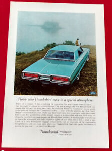ANNONCE ORIG. - 1964 FORD THUNDERBIRD CLASSIC CAR AD - 60S