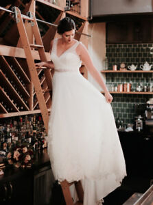 Wedding Dress Size 16 Altered to Fit Size 14