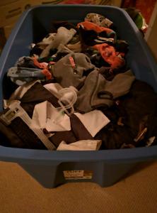 Big bin of boys clothes