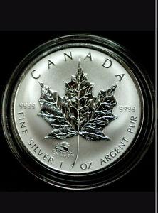 1 oz 99.99% pure silver RCM Maple leaf with Dragon privy 2012