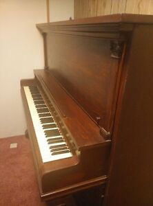 Old Upright Grand Piano