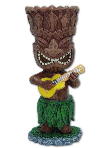 """Dashboard Tiki 4"""" Mini Doll Ukulele Hawaii Warrior Island Hawaiian Islands Gifts"""