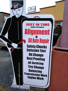SAFETY CERTIFICATE-$20 ALIGNMENT-$40 EMISSION-$30 LABOUR-$40/HR