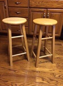 "24"" bar stools solid wood."