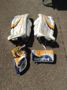 Goalie gear - pads are 30 + 2