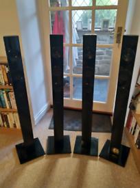 Tall Samsung speakers