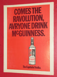 COOL 1973 McGUINNESS VODKA VINTAGE AD - ANONCE RETRO 70S
