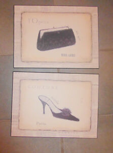 3 plaque-mounted Paris themed pictures, excellent condition Kitchener / Waterloo Kitchener Area image 2