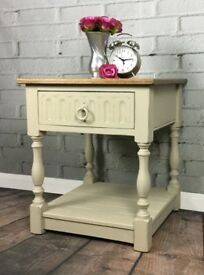 Vintage Oak 'Old Charm' Coffee/Hall/Lamp Table/Hand painted Annie Sloan