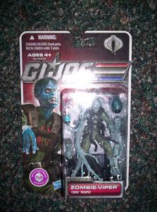 Gi Joe zombie figure mint oncard