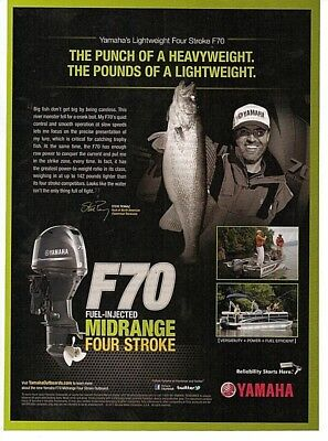 2011 Magazine Advertisement Page Yamaha Four Stroke F70 Outboard Boat Motor Ad