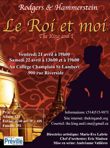 Comédie Musicale The King and I/ Le Roi et moi