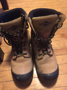 Good shape steel toe boots csa approved.