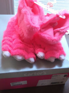 Bright Furry Fun Monster Slippers - Size 7/8