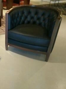 Beautiful leather armchair from Hugues Chevalier Paris