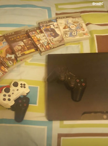 PS3 - 3 CONTROLLERS - 6 GAMES