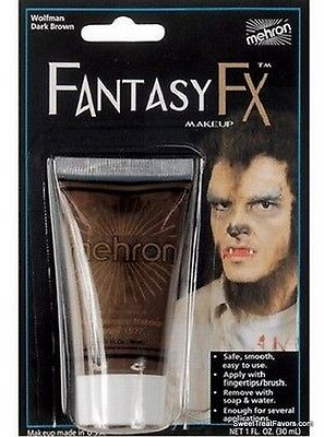 BROWN WOLF Cream Makeup Face Halloween Tube Costume FANTASY Stage FREE SHIPPING