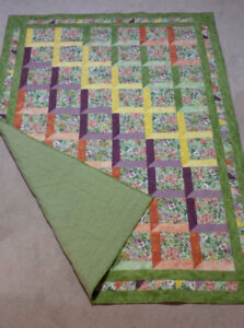 Beautiful New Homemade Single Bed Quilt For Sale