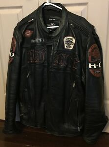 Men's Large Harley Davidson Leather Jacket
