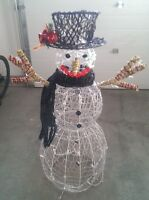 Charming Snowman with Lights!
