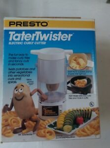 Presto Tater Twister Electric Curly Spiral French Fry Cutter