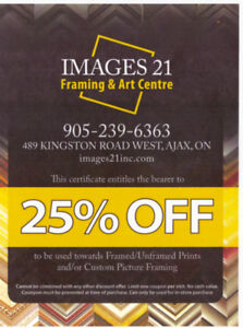 25% OFF Custom Framing