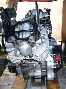 Engine of a 1984 Yamaha XV 500 Virago