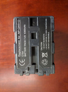 Battery for Sony NP-QM91D Handycam