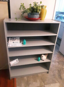 Sturdy Solid Wood Grey Shelf
