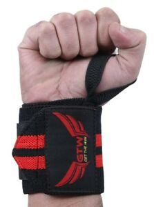 "New Weight Lifting Wrist Wrap 17"" Heavy Duty Elastic Cotton"