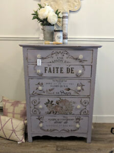 Antique Dresser in Lavender