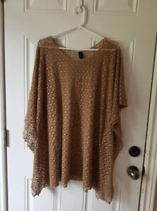 Ladies taupe colored swimsuit cover up OS