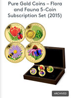 Pure Gold- Flora and Fauna 5-coin set (2015)
