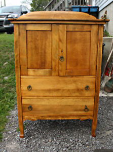 Older Country Cupboard Hutch with Drawers