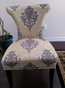 Greenish accent chair