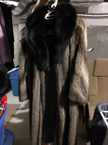 Genuine full length fur coat