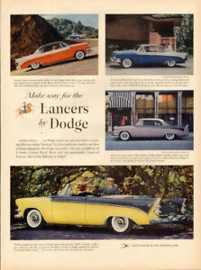 Vintage full page ad for 1956 Dodge Lancer Automobiles