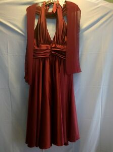 Bridesmaid or Prom Burgundy dress