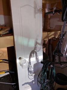 "Interior doors 24"" x 80"" (79 1/2"") with hinges"